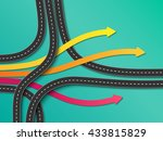 road trip and journey route.... | Shutterstock .eps vector #433815829