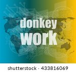 Donkey Work Text On Digital...