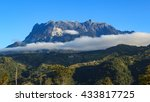 mount kinabalu with the clear... | Shutterstock . vector #433817725