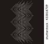 brilliant stones zigzag... | Shutterstock .eps vector #433818709