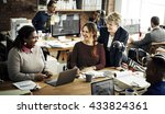 business team working office... | Shutterstock . vector #433824361