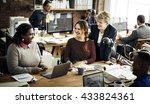 business team working office... | Shutterstock . vector #433824361