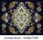hand drawn mehendi ornamental... | Shutterstock .eps vector #433827589