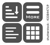 hamburger menu icons set. gray... | Shutterstock . vector #433844719