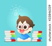 small boy has idea  boy coming... | Shutterstock .eps vector #433846339