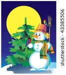 snowman   Shutterstock .eps vector #43385506