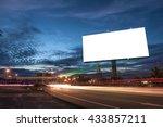 billboard blank for outdoor... | Shutterstock . vector #433857211