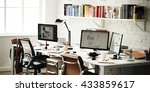 contemporary room workplace... | Shutterstock . vector #433859617
