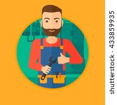 a hipster repairman with a...   Shutterstock .eps vector #433859935