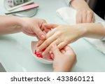 woman hands receiving a  hand... | Shutterstock . vector #433860121