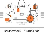 business line illustration  | Shutterstock .eps vector #433861705