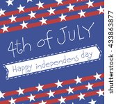 happy independence day of usa.... | Shutterstock .eps vector #433863877