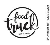 food truck logo template | Shutterstock .eps vector #433866205
