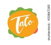 taco logo  mexican food logo... | Shutterstock .eps vector #433867285