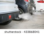 combustion fumes coming out of... | Shutterstock . vector #433868041