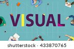 visual access design digital... | Shutterstock . vector #433870765