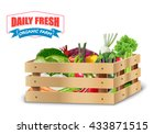 fresh vegetable in wooden... | Shutterstock .eps vector #433871515