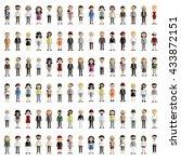 diversity community people flat ... | Shutterstock .eps vector #433872151