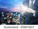double exposure of professional ...   Shutterstock . vector #433872817
