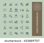 networking icon set vector | Shutterstock .eps vector #433889707