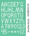 super set of letters and... | Shutterstock .eps vector #433894174