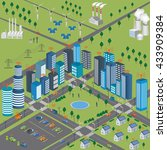 smart city concept and wireless ... | Shutterstock .eps vector #433909384