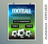 soccer football poster flyer... | Shutterstock .eps vector #433911835