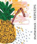 hand draw texture card.vector... | Shutterstock .eps vector #433915291