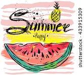 vector summer background.hello...   Shutterstock .eps vector #433915309