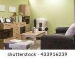 wooden living room furniture | Shutterstock . vector #433916239