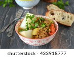 lentils with  vegetables  ... | Shutterstock . vector #433918777