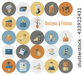 business and finance  flat icon ... | Shutterstock .eps vector #433922431