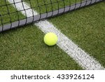 Tennis Ball On Grass Tennis...