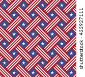 usa independence day seamless... | Shutterstock .eps vector #433927111