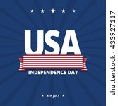 usa independence day card.... | Shutterstock .eps vector #433927117