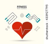 fitness design. gym icon. flat... | Shutterstock .eps vector #433927795
