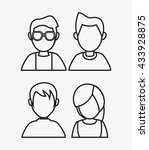 people design. avatar icon.... | Shutterstock .eps vector #433928875