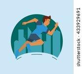 running design. sport icon.... | Shutterstock .eps vector #433929691