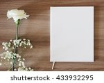 blank white book  journal ...   Shutterstock . vector #433932295