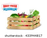 fresh vegetable in wooden... | Shutterstock . vector #433944817