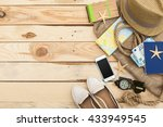 accessories for travel.... | Shutterstock . vector #433949545