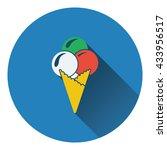 ice cream cone icon. flat...