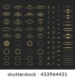 wicker lines and old decor... | Shutterstock . vector #433964431