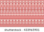seamless aztec pattern. | Shutterstock .eps vector #433965901