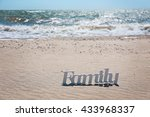 Word Family On A Sand  Close Up