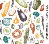 healthy food vector background... | Shutterstock .eps vector #433971127