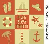 vector illustration summer... | Shutterstock .eps vector #433972261