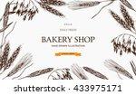 vector design with ink hand... | Shutterstock .eps vector #433975171