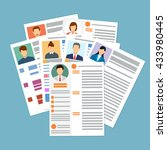 cv concept resume with photo ...   Shutterstock .eps vector #433980445