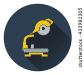 icon of circular end saw. flat...